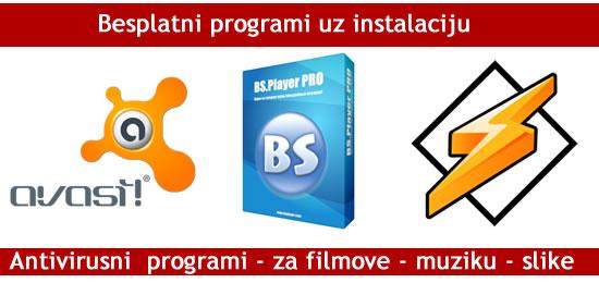 besplatni programi uz svaku instalaciju