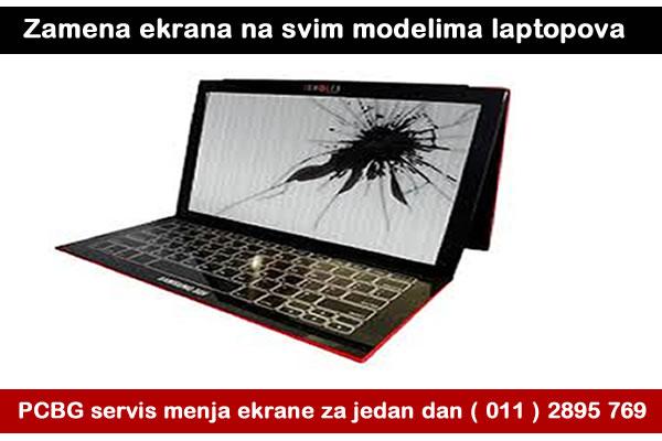 zamena ekrana na laptopu u nasem servisu